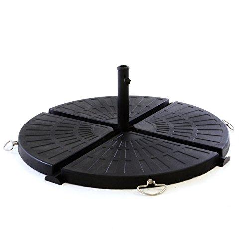 Nexos Schirmständer Sonnenschirmständer massiver Platten-Schirmständer Sonnenschirm rund Ø 100cm...