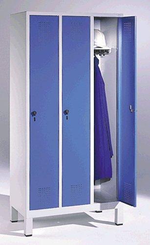 EVOLO Garderobenschrank48010-30-7035 H185xB90xT50 cm lichtgraublau