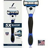 Spruce Shave Club 5X Shaving Razor for Men - 5 Blade Razor