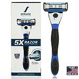 Spruce Shave Club 5X Shaving Razor for Men - 5 Blade Razor