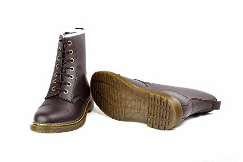 hommes décontracté Montante à Lacets Chelsea Chaussures Mode Faux Cuir Retro taille 6-12 UK Café