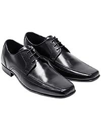 next Hombre Con Cordones Oficial Formal Zapatos De Vestir De Piel Con Puntera Cuadrada