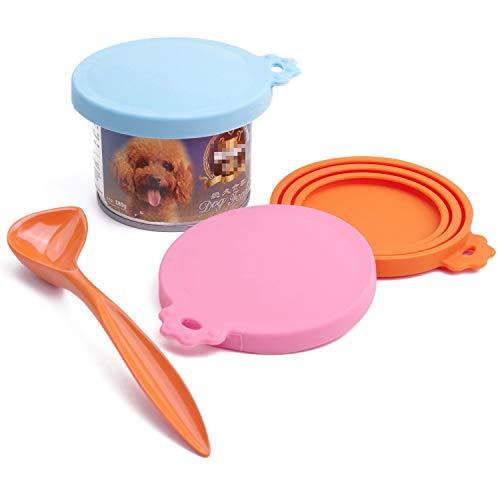 SuperDesign Universal-Aufbewahrungsdeckel aus Silikon für Dosen mit Tiernahrung, passend für drei Standardgrößen von Hundefutter und Katzenfutter