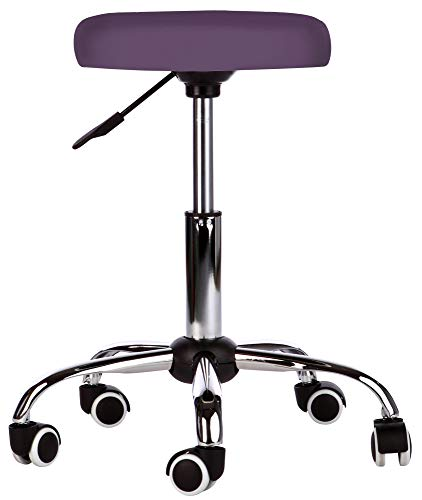 Kosmetik Arbeitshocker Massage Hocker, höhenverstellbar, lila