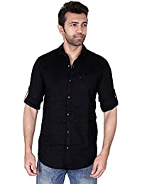 Villain Men's Casual Shirt - Slim Fit Button Down Shirt In 100% Cotton