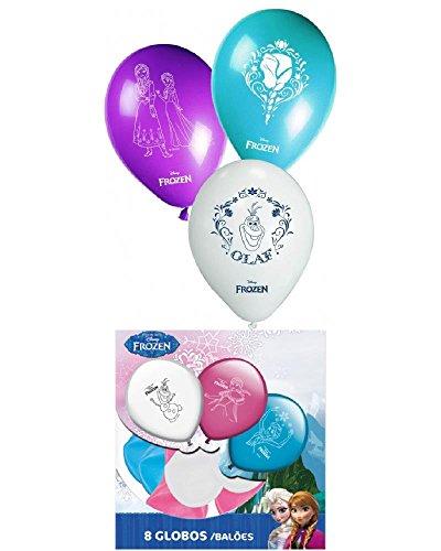 Confezione 8 Palloncini Frozen Disney *07884