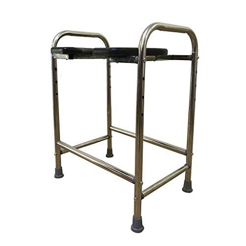 MyAou-commode Les Femmes Enceintes épaisses d'acier Inoxydable s'asseoir la Chaise de Toilette Les Toilettes Mobiles Ont augmenté Le siège de Toilette Personnes âgées Tabouret de Toilette handicapé