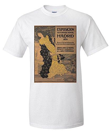 Exposicion Internacional de Madrid Vintage Poster (artist: Grasset, Eugene) France c. 1893 (Premium T-Shirt)