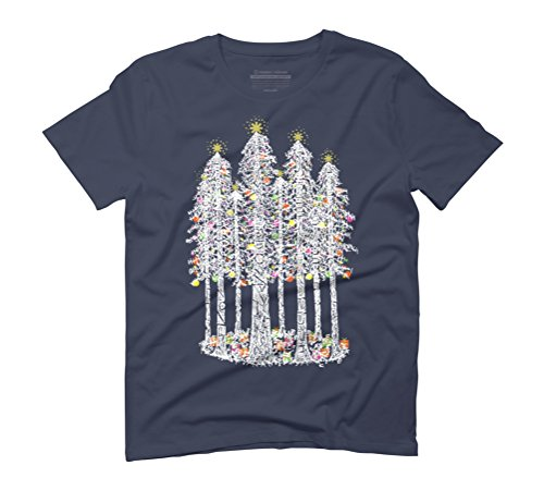 Christmas Cathedral Ring (Coastal Redwoods) [White] Men's Graphic T-Shirt - Design By Humans Navy