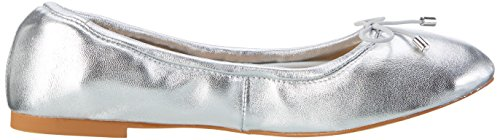 Buffalo 216-6219 Nappa Leather, Ballerines Femme Argent (Silver)