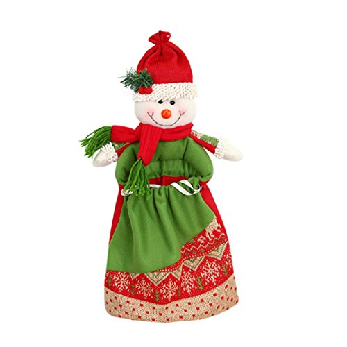 Transer® Weihnachtsgeschenk Tasche Süßigkeiten Paket Weihnachtsmann Schneemann Elch Garten Home Dekore Dekoration für Weihnachtsbaum, 45 x 28cm (Kostüme Samt Superman)