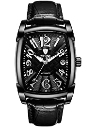 Reloj mecánico automático Hombres, Caja Rectangular Reloj del ...