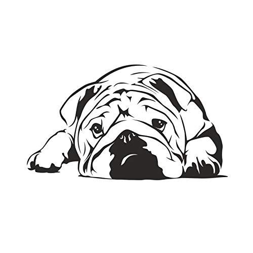 ONETOTOP Lazy Bulldog Decoración La Pared Pegatinas
