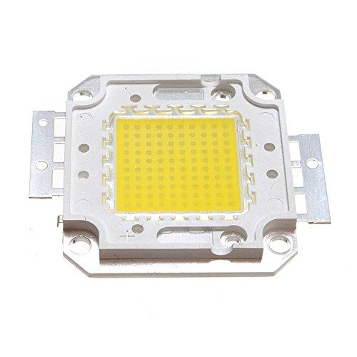jdon-led, cuentas para Chip LED Alta Potencia cuentas 20W 30W 50W 70W 100W 3000K/6000K para proyector Spotlight (Color Color Cool White (Wattage: 100W)