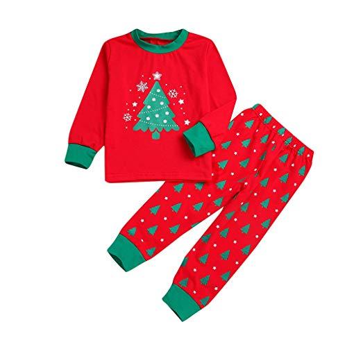 Kinder Kinder Weihnachten Cartoon Pyjamas Schneeflocke Tops + Hosen Weihnachten ()