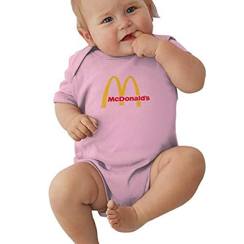 Kinder Baby Mädchen Jungen Sommer Bodys T-Shirt McDonalds Logo T Shirt Shirts Für Kleinkind Mädchen Jungen Kurzhülse Rosa 6 Mt Solid-footed Sleeper Pajamas