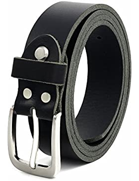 Schwarzer Vollledergürtel aus Büffelleder 30mm breit ca. 4mm stark kürzbar Gürtel Ledergürtel Anzuggürtel Jeansgürtel...