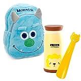 Lantelme 5991 Kinder Rucksack Monster - Schuhanzieher und Trinkflasche im Set für Kindergarten - Kinderkrippen und auf Reisen