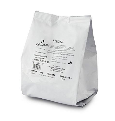 ODC MADE IN ITALY Kit Formato da 100 CAPSULE SOLUBILE AL GINSENG Compatibili con le Macchine da Caffè Lavazza A Modo Mio.