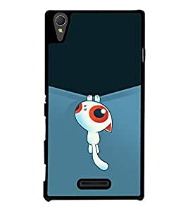 Cute Cartoon 2D Hard Polycarbonate Designer Back Case Cover for Sony Xperia T3