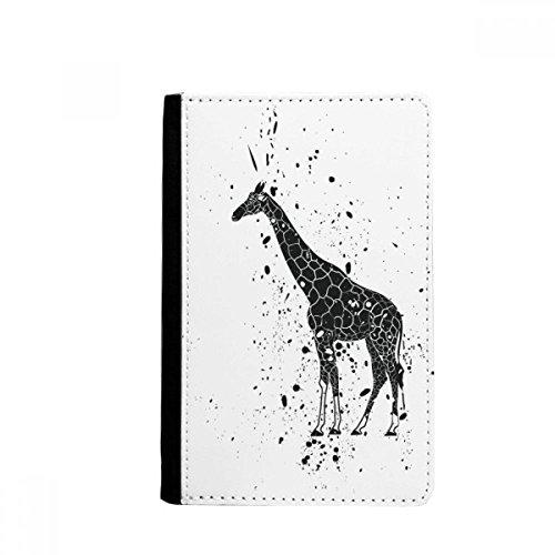 beatChong Mexikanische Giraffe Einfache Schwarzweiss-Pass-Halter Travel Wallet Abdeckungs-Fall Karten-Geldbeutel