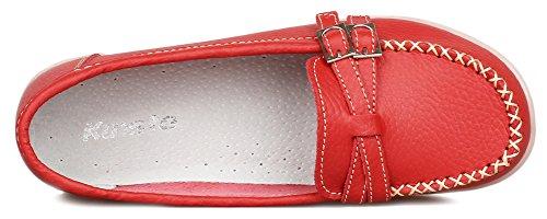 Kunsto Flats, Mocassini donna Rosso (rosso)