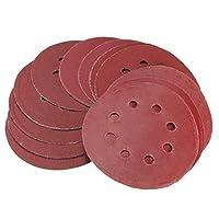 Andifany 25pcs 5 Sanding Discs 125mm 8 Hole Sandpaper 800 1000 1200 1500 2000 Grit