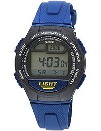 CASIO W-734-2A - Reloj con movimiento cuarzo, para hombre, color gris y azul