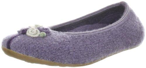 Haflinger Belissima 483018, Damen Klassische Hausschuhe, Violett (aubergine 5), EU 41
