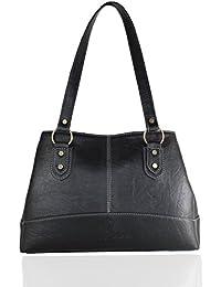 Fargo Base PU Leather Women's & Girl's Shoulder Handbag (Black_FGO-025)