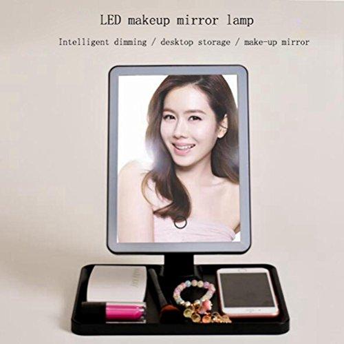 LED Schminkspiegel Tischlampe USB Netzteil Dimmbare Mehrzweck-Desktop-Speicher Schönheitsspiegel...