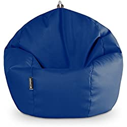 Puff Pelota Polipiel Outdoor Azul Happers
