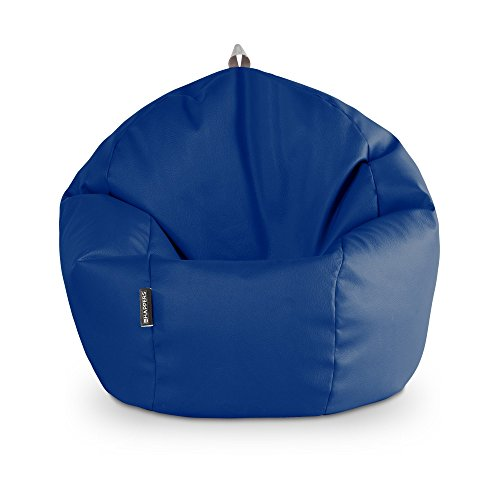 HAPPERS Puff Pelota Polipiel Outdoor Azul