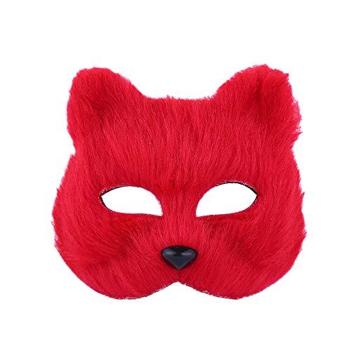 Mayyou Maskenmaske männlich und weiblich Halbgesicht Requisiten Spielzeug Halloween kleine Fuchs Maske