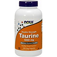 Now Foods Taurine Double Strength, 250 caps 1000 mg