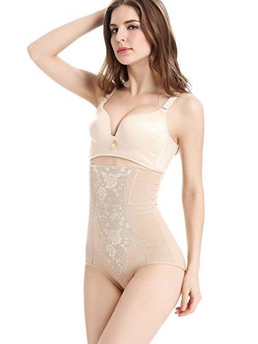 RIEMTEX Shapewear Damen Miederhose Bauch weg Unterwäsche Body Shaper in Schwarz oder Beige - Bitte RiemTEX Größentabelle beachten Schwarz