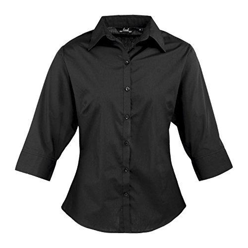 premier-de-manga-3-4-para-mujer-popelina-blusa-negro-negro-52