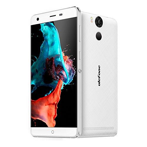 Ulefone Power Smartphone ohne Vertrag (5.5u0022 FHD Display, 4G Dual-SIM, 3GB RAM, 16GB Interner Speicher, Dual-Hinterkamera, Android 6,0, 6050mAh Akku mit Schnellaufladung) White