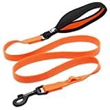 YUN Nylonband-Zugseil-Hundeschnur-Hundeketten-großer Hund Kleiner bequemer Hundeservice (Farbe : Orange, größe : 140X2.0CM)