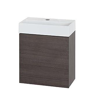 Tiger Items Conjunto Mueble De Baño con Lavabo, Roble Milano, 48 x 40 x 24 cm