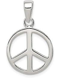 87cff3004fa6 Diamond2Deal Damen 925 Sterling Silber Peace Zeichen Anhänger für Halskette