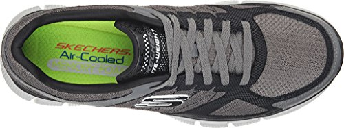 Skechers Equalizer 2.0 On Track Sneakers Athletic Shoes Charcoal/Black