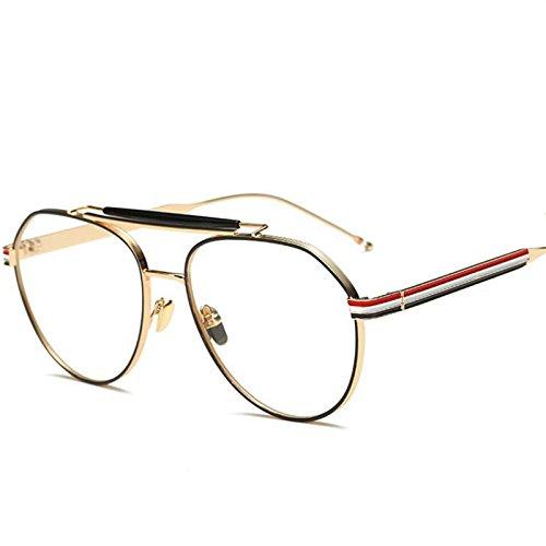 Mode Normalglas Spektakel Frauen Männer Retro optische Brillen frame Luxusmarke Brille frame Männer Brillen UV400, Gold
