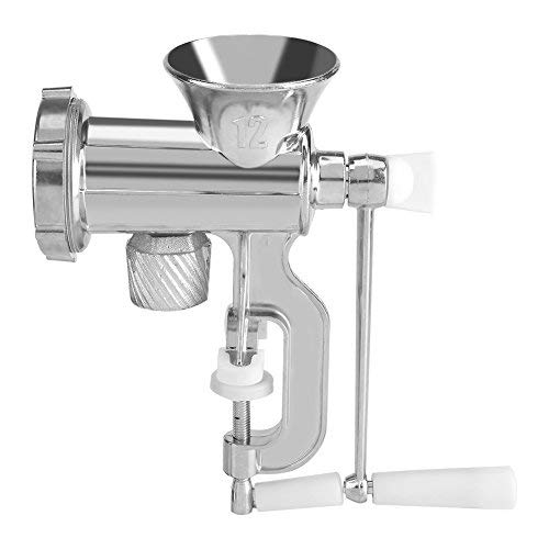 Tritacarne Manuale Macchina Salsiccia a Carne Elettrica e Grattugia Multifunzione di Alluminio Frantoio Strumento di Salsiccia Smerigliatrice a Mano per Cucina di Casa