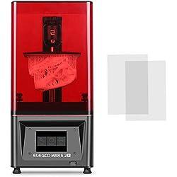 ELEGOO Mars 2 Pro Mono MSLA stampante 3D MSLA UV fotopolimerizzazione UV stampante LCD 3D in resina con 6 pollici 2K LCD monocromatico, dimensioni di stampa 129 * 80 * 160mm/5.08 * 3.15 * 6.30inch