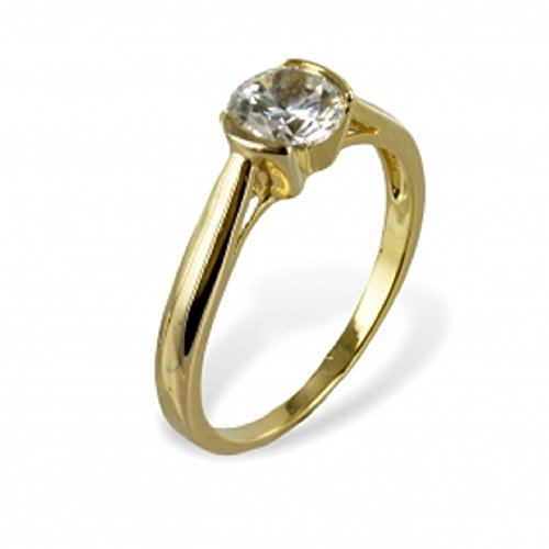 Uhren & Schmuck Loyal Damen Ring 333 Gold Gelbgold 15 Zirkonia Goldring Cheapest Price From Our Site