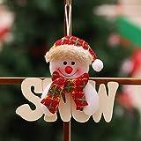 Rlorie Impiccagione Di Decorazioni Natalizie Decorazione Della Porta Di Natale Ornamento Di Natale Simpatico Ciondolo In Legno Di Cervo Con Pupazzo Di Neve, Adatto Per Decorazioni Natalizie trusted