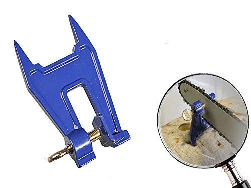Preisvergleich Produktbild Kettensägen Schraubstock 16 mm mit 2 Dornen aus Gussstahl