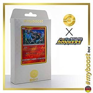 Heatran 48/214 Holo Reverse - #myboost X Sonne & Mond 8 Echo Des Donners - Box de 10 Cartas Pokémon Alemán
