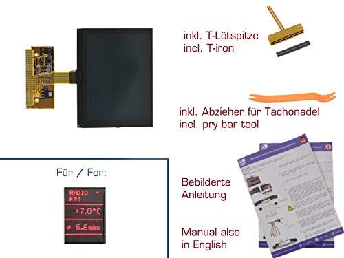 Preisvergleich Produktbild gearworks Display für A2 A3 / 8L A4 / B5 A6 / C5 Kombiinstrument / FIS / MFA für VDO Reparatur